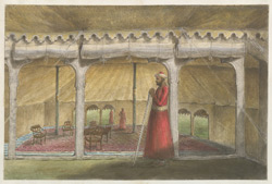 Interior of the audience tent, with a sontar-burdar